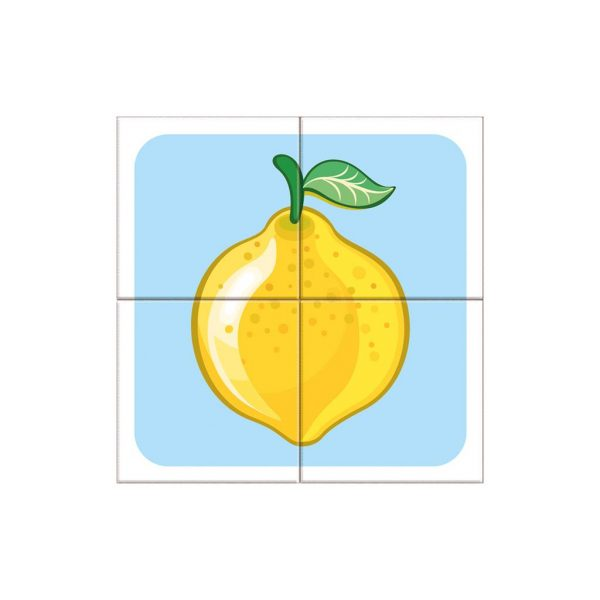 Houten blokpuzzel fruitsoorten (3)