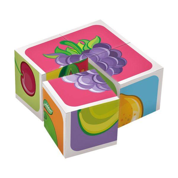 Houten blokpuzzel fruitsoorten (4)