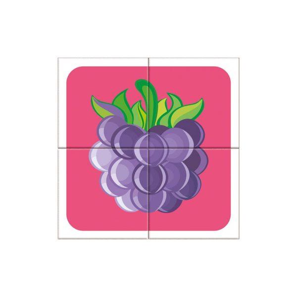 Houten blokpuzzel fruitsoorten (5)