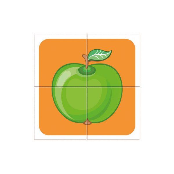 Houten blokpuzzel fruitsoorten (6)