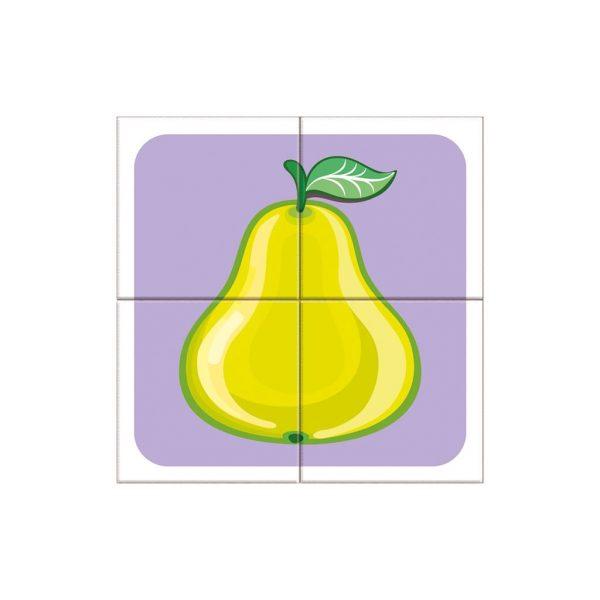Houten blokpuzzel fruitsoorten (8)