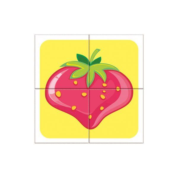 Houten blokpuzzel fruitsoorten (9)