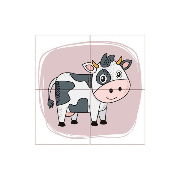 Houten blokpuzzel boerderijdieren (7)