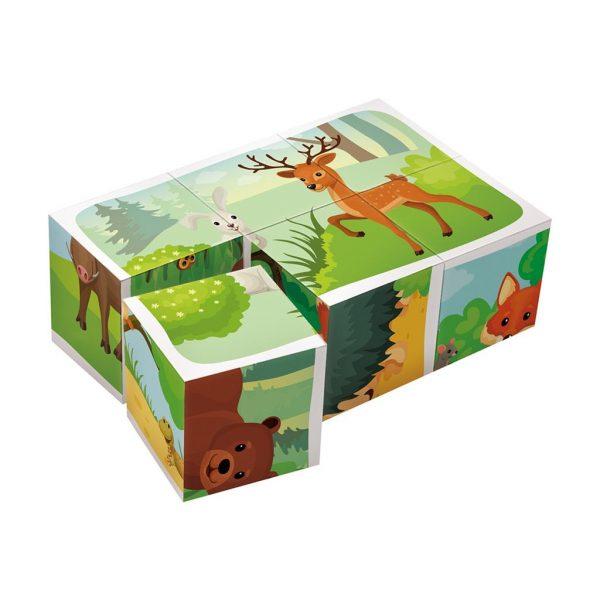 Houten blokpuzzel bosdieren (3)