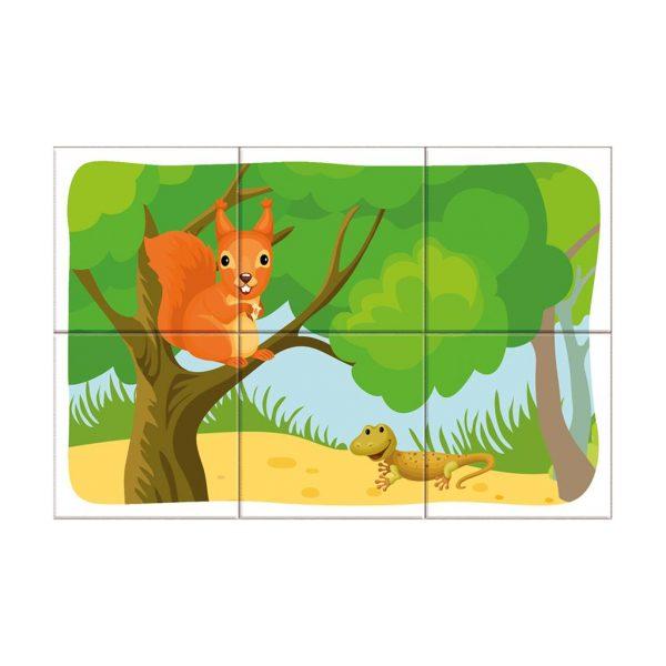 Houten blokpuzzel bosdieren (4)