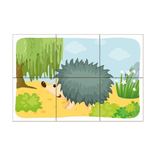 Houten blokpuzzel bosdieren (6)