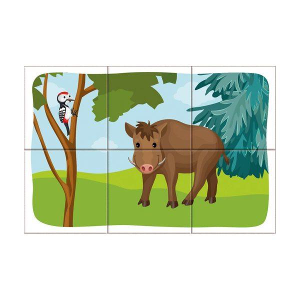 Houten blokpuzzel bosdieren (7)