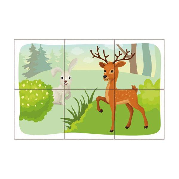 Houten blokpuzzel bosdieren (8)