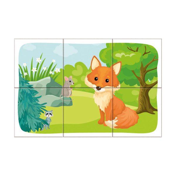 Houten blokpuzzel bosdieren (9)