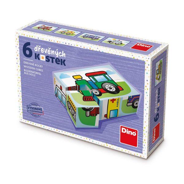 Houten blokpuzzel voertuigen (2)