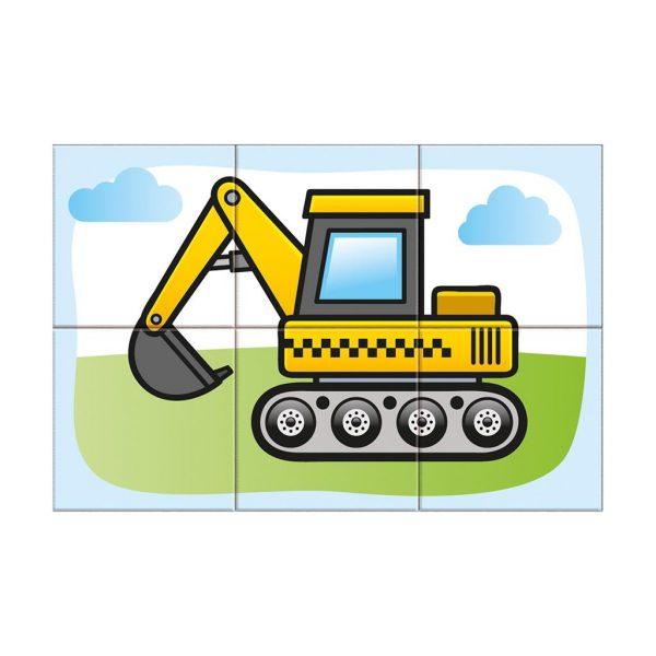 Houten blokpuzzel voertuigen (5)
