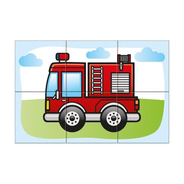Houten blokpuzzel voertuigen (6)