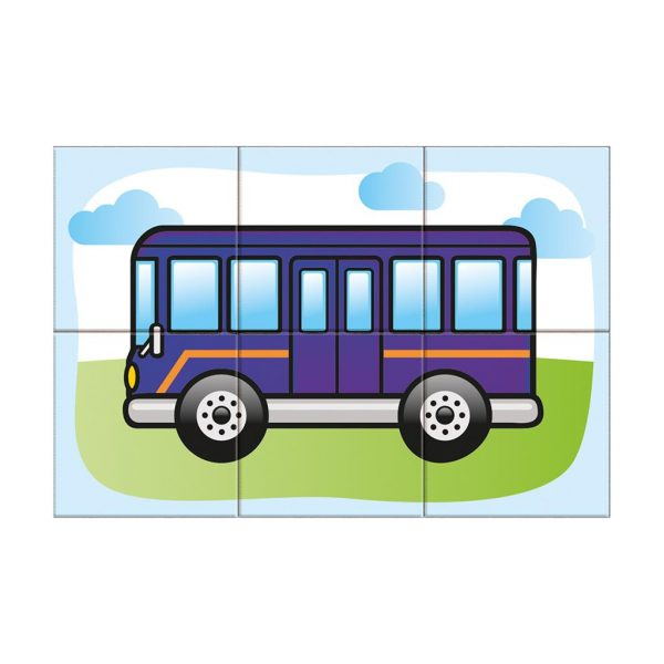Houten blokpuzzel voertuigen (7)