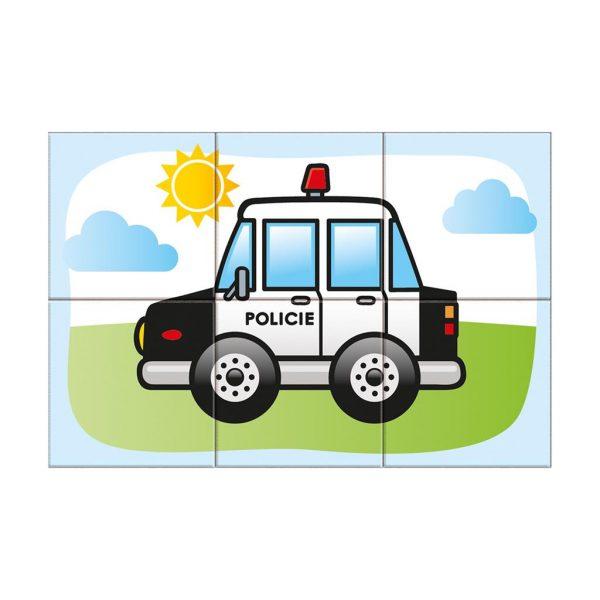 Houten blokpuzzel voertuigen (8)