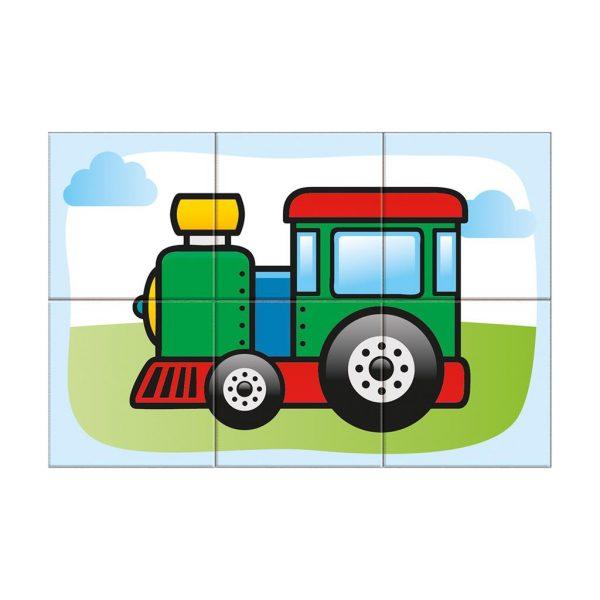 Houten blokpuzzel voertuigen (9)
