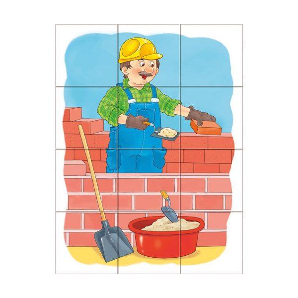Houten blokpuzzel beroepen (4)