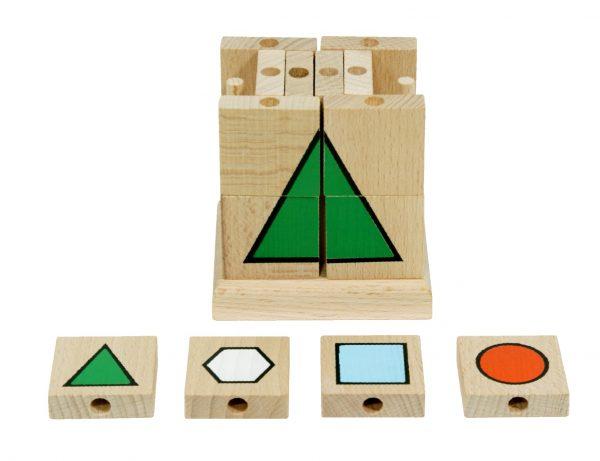 Houten puzzel geometrische vormen (1)