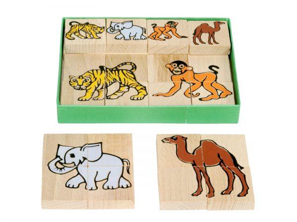 Houten puzzel wilde dieren (1)