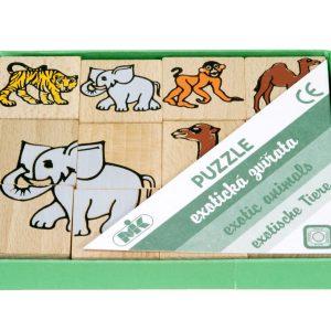 Houten puzzel wilde dieren